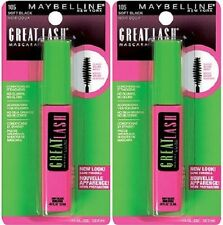 Maybelline Great Lash Mascara, 105 Soft Black, Lot of 2!