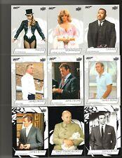 2019 Upper Deck James Bond Collection Base set of #1 thru #150 & Wrapper