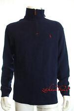 BNWT Polo Ralph Lauren Half Zip Ante De Imitación Costilla Jersey de Superdry en azul marino Talla M Rrp £ 119