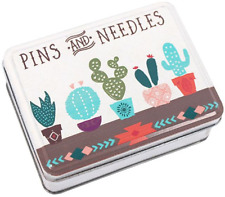 Cute Pins and Needles Cactus Small Storage Tin Sewing Tattoo Christmas Gift
