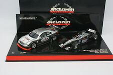 Minichamps 1/43 - Coffret F1 McLaren MP4-16 et Mercedes CLK Hakkinen