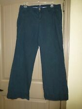 American Eagle Womens Size 10 Faded Blue Striped Khaki Pants Good Condition
