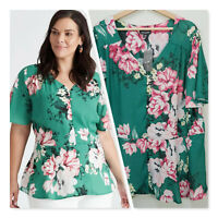 [ AUTOGRAPH ] Womens Floral Peplum Top NEW + TAGS | Size AU 18 or US 14