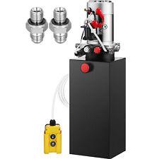 10 Quart Single Acting Hydraulic Pump Dump Trailer Control Kit Lift Power Unit