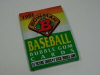 1991 Bowman American Baseball Bubblegum Trading Cards Sealed Pack of 14 Cards