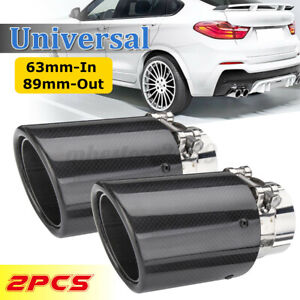 """2pcs Exhaust Tips fit for Pontiac Fiero 2/"""" inlet dual 3/"""" Out 304 Stainless Steel"""
