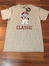 NEW with Tags Vintage Super Mario Nintendo Licensed Classic Gray T-Shirt Medium