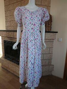Rose Dirndl AUS Bayern Oktoberfest Cotton Dress National Size eur 46 / 2xl