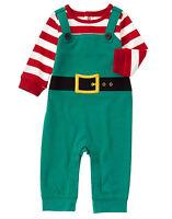 NWT Gymboree Holiday Shop Elf Christmas Holiday Romper 1PC Baby Boy