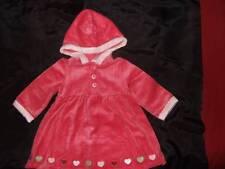 NWT GYMBOREE ~ GINGERBREAD GIRL pink velour hooded dress ~ girls 12 18 mos.
