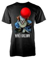 IT Clown Pennywise Want A Balloon Horror Scary Adult T Shirt