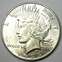 1935-S Peace Silver Dollar $1 Coin - Choice AU / UNC MS Details - Rare Date!