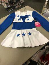 Dallas Cowboys Cheerleaders Dress Uniform White Royal Blue  girls