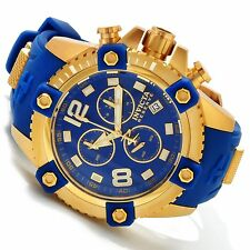 11173 Invicta Reserve 48mm Octane Swiss Chrongraph 18KT GP Case Blue Strap Watch