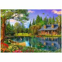 DIY 5D Diamond Embroidery Painting Cross Stitch Kit(Small village) J9A1