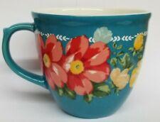 The Pioneer Woman Floral Blue Red  Jubilee Stoneware Mug Coffee Tea Cup 16 Oz