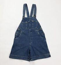 Salopette vintage shorts overalls work clothes size S 42 usato blu jeans T1489