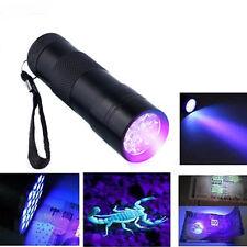 Mode UV Ultra Violet 9 LED Lampe de Poche Blacklight Light 395 NM Poche de Lampe
