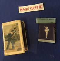 WW1 NAVAL & ALLIED FLAGS DIEU ET MON DROIT CELLULOID MATCH BOX HOLDER VESTA CASE