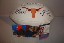 Ricky Williams & Earl Campbell signed Texas Longhorns Logo Football - JSA Cert