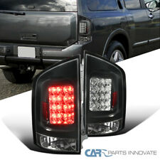 For 05-15 Nissan Armada SUV Black LED Rear Tail Lights Brake Lamps Left+Right