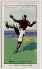 1925 172 Consecutive Field Goals Kicked By Sam York 1930s Ad Trade Card