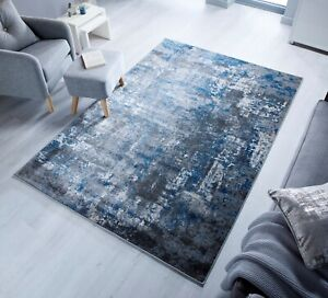 Element Cocktail Wonderlust Blue Grey Abstract Budget Rug various sizes & runner
