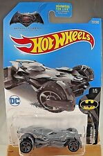 2017 Hot Wheels #237 Batman 1/5 Batman vs. Superman BATMOBILE Gray w/Gray MC5 sp