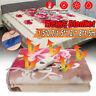 220V Electric Heated Velvet Warming Under Blanket Throw Washable Warm Mattress