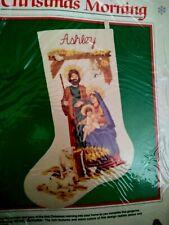 Dimensions Christmas Morning Crewel Stocking Kit #8070 New