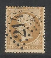 France 1862-71 Napoleon III 10c bister/yellowish (25) used