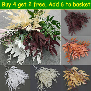 Artificial Fake Leaves Plants Willow Leaf Flowers Christmas Wreath Garden Decor