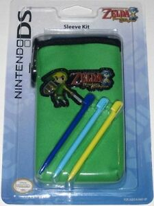 Nintendo DS- Zelda: Phantom Hourglass sleeve, stylus + Brand NEW!