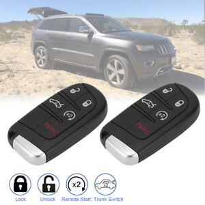 2 For Jeep Grand Cherokee 2014 2015 2016 2017 2018 Keyless Smart Remote Key Fob
