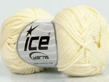 Cream Cotton Bamboo Yarn Ice #41441 Baby / Sport Weight 50 Gram 153 Yards