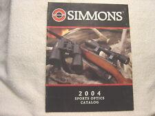 SIMMONS SCOPE OPTICS 2004 gun shooting catalog