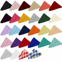 "YCC Linens 20"" Square Premium Polyester Cloth Dinner Napkins Restaurant Quality"