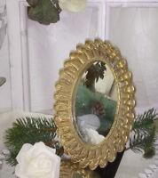 Spiegel Standspiegel Wandspiegel Gold Shabby Chic Vintage landhaus  20 x16 cm