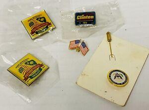 Rare Vintage Young Democrats Clinton Election Lot Lapel Enamel Trade Collect Pin