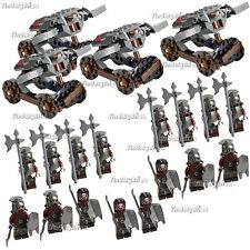 16x Lego Lord of the Rings Uruk-hai Minifigs & 4 Hook Shooters No Box NEW 9471