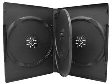 1 x Quad 4 Disc Black  DVD Case 14mm with tray