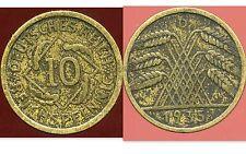 ALLEMAGNE  10 reichspfennig  1935  D