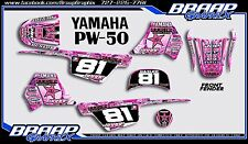Yamaha PW-50 Pink Rockstar Graphics Decal Kit