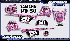 Yamaha PW-50 Pink Rockstar Graphics Decal Kit