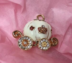 Cream Cinderella Pumpkin Carriage Charm Embellishment Craft Jewellery Bow Making