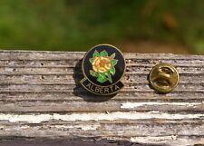 Alberta Canada Wild Rose Rosa Acicularis Metal & Enamel Lapel Pin Pinback