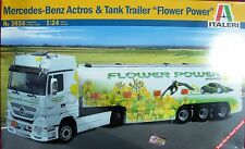 Italeri 3856 mercedes-benz actros & Tank tráiler * Flower Power * 1:24 - nuevo
