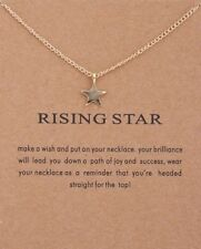 """Rising Star"" Gold Dipped Carded Pendant Necklace"