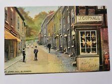 """Vintage Postcard Showing """"St. John's Hill, Ellesmere"""", Shropshire"""