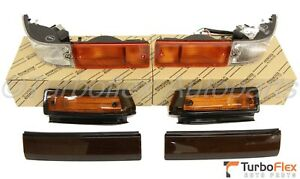 Toyota AE86 Trueno Kouki Front Bumper Turn Lamp Smoke Fender Light & Garnish JDM